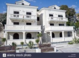 two white mediterranean houses stock photo royalty free image