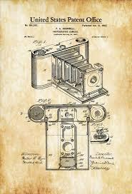 Vintage Camera Decor 1902 Folding Photographic Camera Patent Patent Print Wall Decor