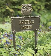 garden plaques personalized owl metal garden plaque wind weather