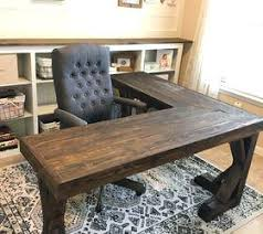 T Shaped Desk L Shaped Desk Office L Shaped Farmhouse Wood Desk Office Makeover
