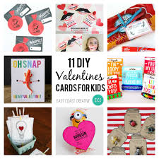 valentines for kids 11 diy s day cards for kids east coast creative