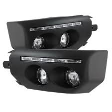 spyder auto fog lights with led daytime running lights black