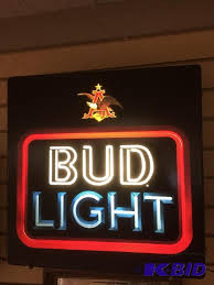 bud light light up sign bud light light up sign shakopee consignment relocation auction