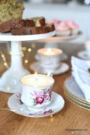 tea cup candle diy tea cup candle tutorial power style