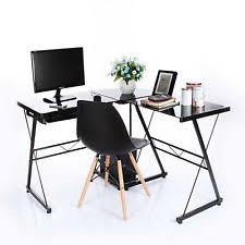 Glass Metal Computer Desk Unbranded Desks And Computer Furniture Ebay
