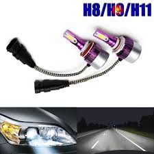 nissan juke led headlights amazon com h11 h8 h9 led headlight bulb kit super bright 6000k