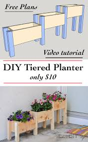 easy diy tiered planter for 10 planter box plans tiered