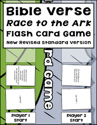 bible verse race to the ark flash card game warm hearts