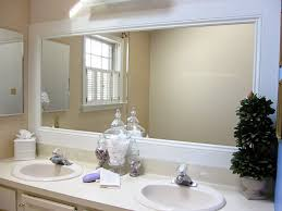 how to frame mirror in bathroom bathroom mirror white frame house decorations