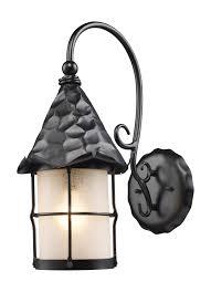 Elk Outdoor Lighting by Lighting 385 Bk Rustica Exterior Wall Mount Lantern