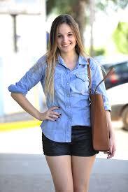 Basta Meu look: Short resinado + camisa jeans – Blog Mah Seno #IP04