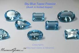 light blue gemstone name loose sky blue topaz gemstones view specifications details of