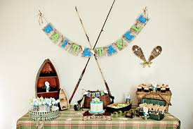 fishing themed baby shower evan s vintage fishing themed 1st birthday via somewhere splendid