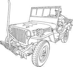 military jeep coloring page willys mb u s army truck coloring page free printable coloring pages