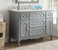 adelina 48 inch antique cottage bathroom vanity grey finish white