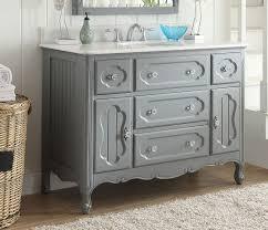 Grey Bathroom Vanity by Adelina 48 Inch Antique Cottage Bathroom Vanity Grey Finish White