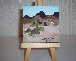 desert painting etsy