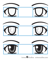 how to draw anime eyes and eye expressions tutorial anime outline
