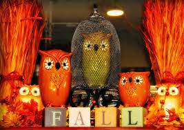the tuscan home fall decorating with owls