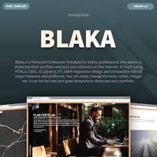 personal portfolio template blaka u2022 creative personal portfolio template by achox themeforest