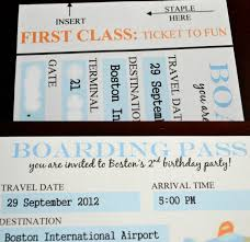 our love and our blessing homemade invitations boarding pass style