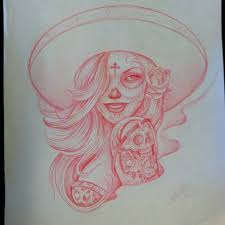 day of dead drawings drawing pictures