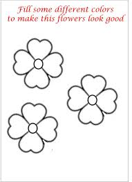 Little Flower Coloring Printable Page For Kids Small Coloring Pages