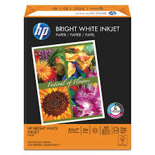 Bright White by Hp Bright White Inkjet Paper 97 Brightness 24lb 8 1 2 X 11 500