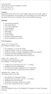 100 Teacher Resume Templates Curriculum by Professional Teacher Templates To Showcase Your Talent