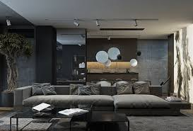 grey and black living room home design