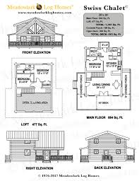 swiss chalet meadowlark log homes detailed plans detailed plans