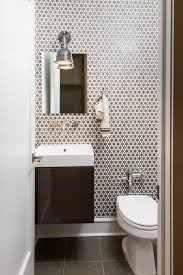Hudson Valley Wall Sconce Modern Powder Room With Specialty Door By Ann Clark Architects