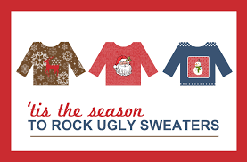 ugly christmas sweater party banners u2013 happy holidays