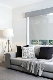 window blinds curtains coloured pelmet and translucent roller