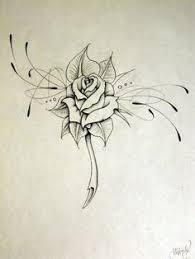 rose tattoo design outline google search art pinterest