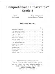 reading comprehension test for grade 5 reading comprehension crosswords grade 5 040273 details