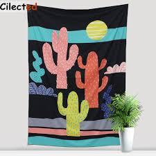 canap suspendu cilected cactus imprimé tapisserie murale maison bohême salle décor
