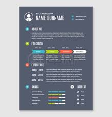 Sample  infographic  resume from Visme template Geckoandfly