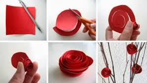 membuat hiasan bunga dari kertas lipat berbagai kreasi kerajinan tangan cara membuat bunga mawar dari kertas