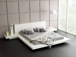 bett modern design wohnideen schlafzimmer weißes bett dekovasen wandpaneele