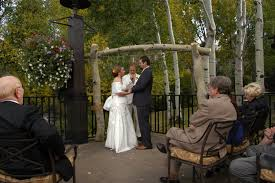 wedding arch no flowers dave and jen s mountain wedding at vista vista