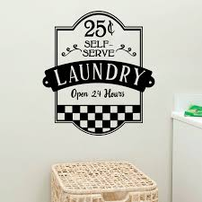 laundry self serve open 24 hours vinyl wall decal cosmic frogs vinyl