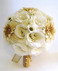 wedding flowers ebay 17 wedding flowers bridal silk bouquet gold champagne