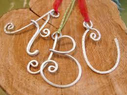 letter ornament initial pendant silver aluminum