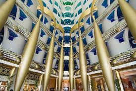 burj al arab inside united arab emirates dubai burj al arab interior of lobby atrium
