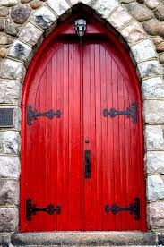 Red Front Doors Red And Black Feels Dramatic And Chic At The Front Door Front