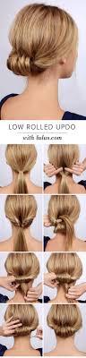 Edle Hochsteckfrisurenen Selber Machen by Lulus How To Low Rolled Updo Hair Tutorial Hochsteckfrisur