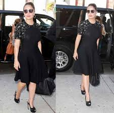 salma hayek little black dress mexican sublime beauty at the