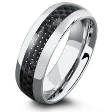 titanium mens wedding bands 8mm carbon fiber rings with airplane grade titanium northern