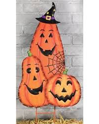 Halloween Outdoor Decorations Ghosts by Spooktacular Savings On Spooky Character Trio Large Metal